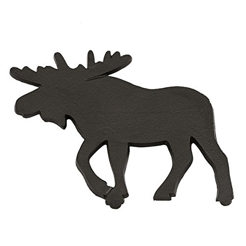 DII Moose Black Cast Iron Trivet, 8 x 8 Inch