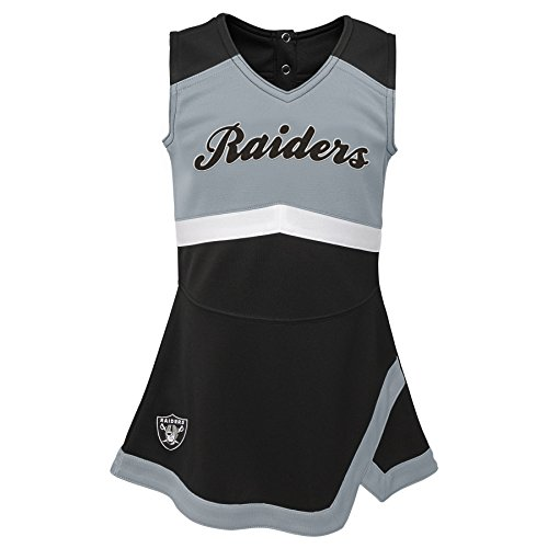 Outerstuff NFL NFL Oakland Raiders Kids & Youth Girls Cheer Captain Jumper Dress Black, Youth Medium(10-12) -