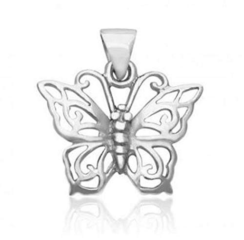 Butterfly Charm Beautiful - 925 Sterling Silver Butterfly Charm Pendant