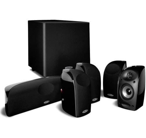 Polk Audio TL1600 5.1 Compact Home Theater System with Powered Subwoofer (Renewed)