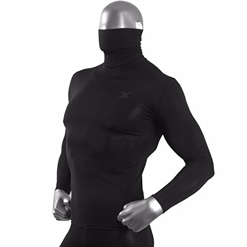 Men's Turtleneck Shirts Thermal Top Base Layer Compression Long Sleeve Black HOM M