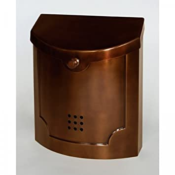 Amazon.com : Ecco E4 Wall Mount Mailbox Copper Plated : Security ...