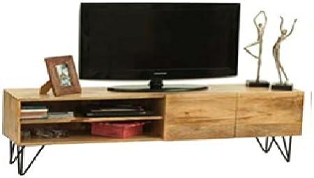 Mueble para Televisor o mesa para TV Vintage industrial de madera maciza de mango: Amazon.es: Hogar