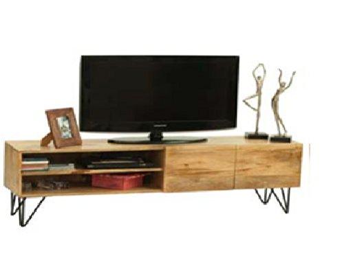 Mueble para Televisor o mesa para TV Vintage industrial de madera maciza de mango