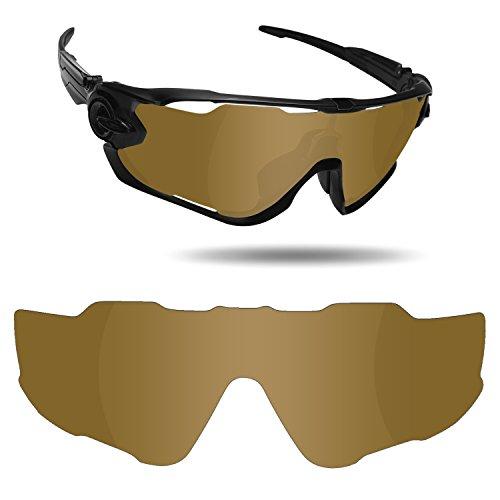 Fiskr Anti-Saltwater Replacement Lenses for Oakley Jawbreaker Sunglasses - Various Colors (Bronze Gold - Anti4s Mirror Polarized, 0) -