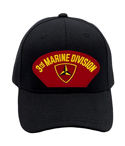 Patchtown USMC - 3rd Marine Division Hat/Ballcap Adjustable One Size Fits Most (Marine Division Hat)