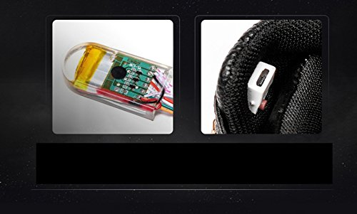 Gaorui Charging Sneakers up Flashing Men Sneakers Fashion Luminous High Light Trainers Black USB Shoes Shoes Top LED rIArwF