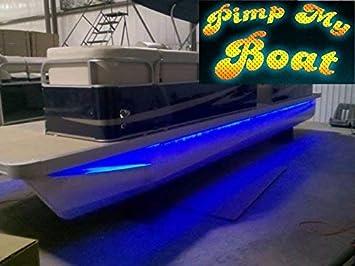 Green Blob Outdoors Pimp My Pontoon P Blue Green Or Ultra Violet 18 20 Or 25ft Sizes Led Boat Deck Lighting Kit W Bonus Red Green Navigation
