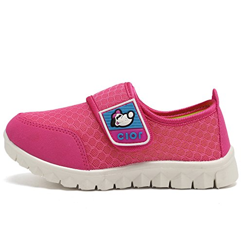CIOR Kid's Mesh Lightweight Sneakers Baby Breathable Slip-On For Boy and Girl's Running Beach Shoes(Toddler/Little Kid) 32