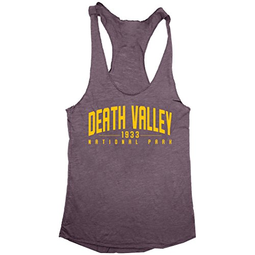 - Death Valley National Park Women's Tri-Blend Racerback Tank (Vintage Purple, Small)
