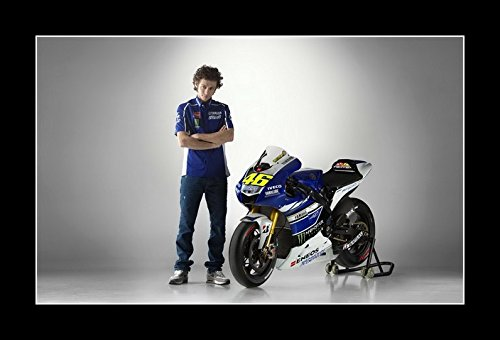 (8 x 10 All Wood Framed Photo Wallpaper-Valentino-Rossi-4-Sport-Celebrity)
