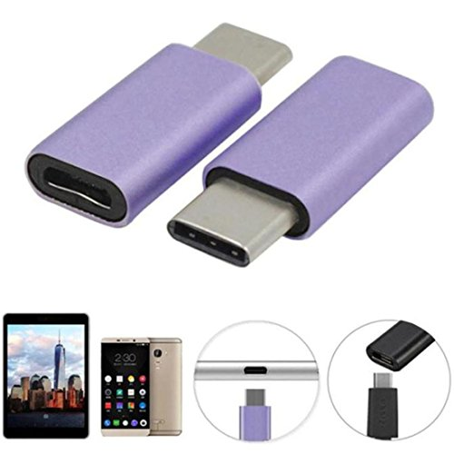 Price comparison product image GBSELL USB 3.1 Type-C to Micro USB Data Charging Adapter For Samsung Galaxy S8 / S8 Plus (Purple)