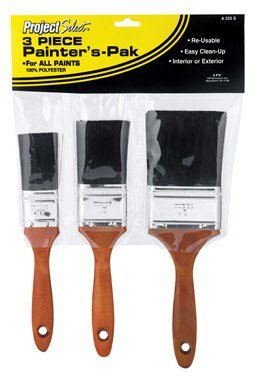 Linzer Project Select A-225 Polyester Brush Set, for All Paints & Stains. (3-Piece)
