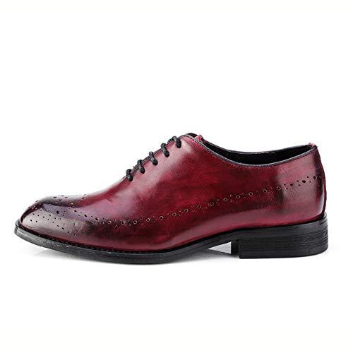 Oscuro Brogue Casual Cuero Negocios EU Oxford Vino Oxford Marron Fang Color Genuino Estilo shoes de para Zapatos de Hombre tamaño Zapatos 46 Hombre 2018 8SxHCq