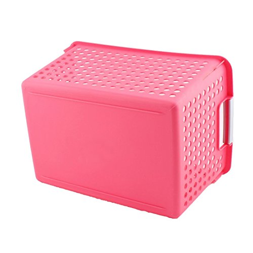 Amazon.com: eDealMax plástico doméstico Aseo ahueca hacia fuera el diseño de ropa cesta del almacenaje Organizador Rojo: Home & Kitchen