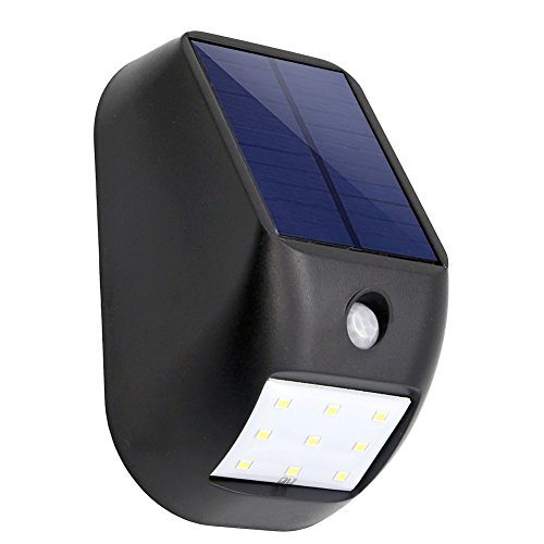 Solar Powered Night Light, SCOPOW 9 LED Outdoor Solar Energy Power Wireless 3 Mode Weatherproof Security Light Motion Sensor Lighting for Patio Deck Yard Garden Driveway Wall (1)