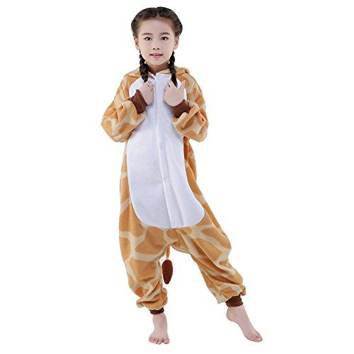 Monkey King Halloween Costume (Newcosplay Halloween Unisex Children Animal Cosplay Pajamas (115, Orange Giraffe))