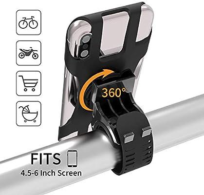 MIJOBS Soporte Movil Bicicleta, 360° Rotación Soporte Movil Bici ...