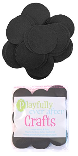 Playfully Ever After 2 Inch Black 44pc Felt Circles