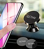 GETIHU Phone Holder for Car, Dashboard Car Phone Mount, Universal Magnetic Cell Phone Car Holder GPS, Compatible with iPhone Xs X 8 7 6s 6 Plus Samsung Galaxy Note 9 S9 Oneplus etc.