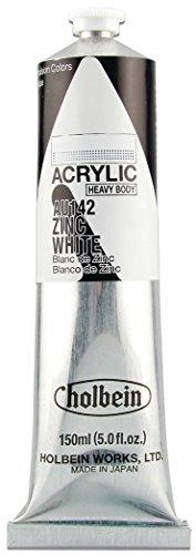 Holbein - Artist Heavy Body Acrylic - 150ml Tube - Zinc White