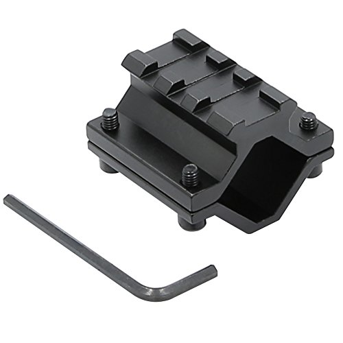 Higoo Tactical Hunting Universal Single Rail Rifle Barrel Mount 3 Slots Picatinny Weaver Rail