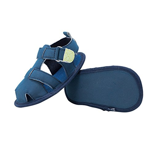 Sandalias De Bebe,BOBORA Prewalker Zapatos Primeros Pasos Para Bebe El Bebe Masculino Las Sandalias Del Fregado azul