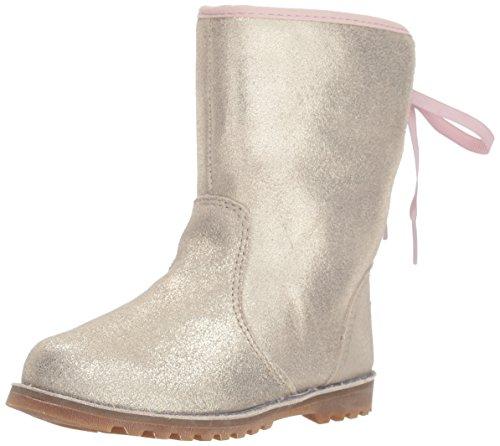 UGG Girls' T Corene Metallic Fashion Boot, Gold, 8 M US Toddler -