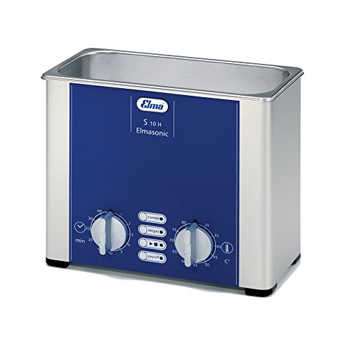 (Elmasonic 100 7137 S10H Ultrasonic Cleaner for Lab and Dental Cleaning with Sweep Mode, Heater and Timer, 7