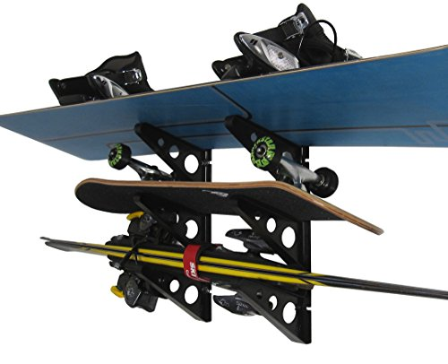 Ski Storage Rack | Horizontal Wall Rack | StoreYourBoard