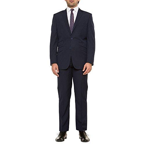 English Laundry Slim Fit Navy Plaid Suit Separates Jacket Navy 38 (Shoes Seersucker Suit)