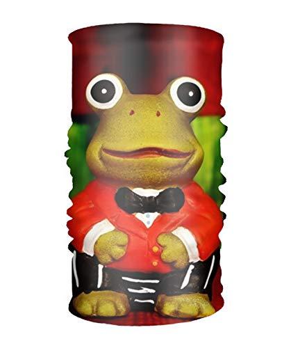(LISPLA Frog Figure Funny Suit Headwear - Works as Fishing Sun Mask, Face Shield, Neck Gaiter, Headband, Bandana)