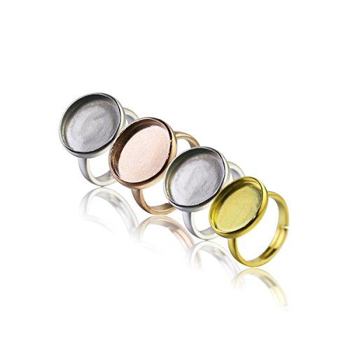 925 Sterling Silver Bezel Setting - 9