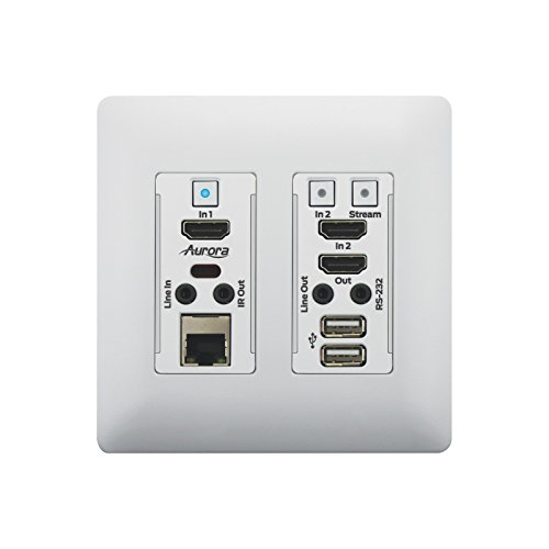 Aurora VLX-TCW2H-C | 1Gbps 4K IP Audio Video Wall Plate White by Aurora