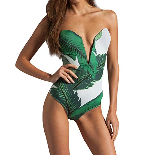 Plus Size Swimwear,Women Solid Bandage Bikini Swimsuit Bikini Swimsuit Sexy Swimwear Green