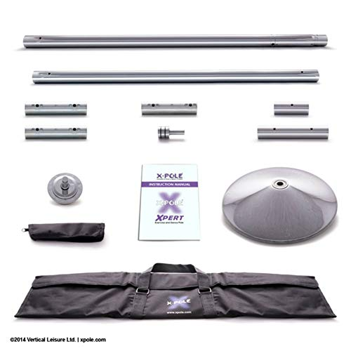 X-POLE Starter Package - Direct from Manufacturer (XPert 45mm Chrome Spinning/Static Portable Dance Pole + 2oz X-Dry + Instructional DVD) - Buy The Genuine Product from The USA