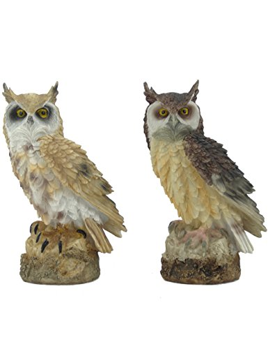 2 Owl Figurines - Rmdusk Owl Figurine Statue Décor Resin Ornament Decoration 7