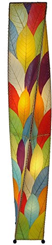 Eangee Twist Multi-Color Cocoa Leaves Giant Tower Floor Lamp