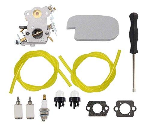 Carburetor Air Filter Fuel Line Spark Plug Tune-up Kit For Poulan P3314 P3416 P3816 P4018 PP3416 PP3516 PP3816 PP4018 PPB3416 PPB4018 PPB4218 S1970 42cc Power Gas Chainsaw 530057925 C1M-W26 by MOTOKU