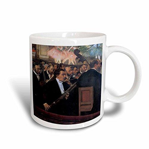 3dRose mug_171335_2 The Orchestra of The Opera By Edgar Degas Man Playing a Bassoon Ceramic Mug, 15-Ounce
