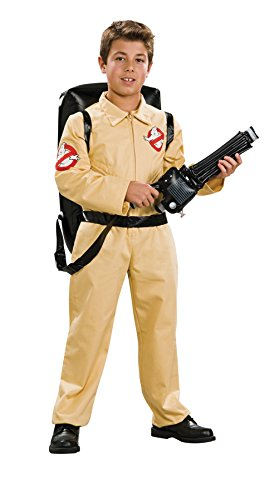 UHC Boy's Ghostbusters Deluxe Kids Child Fancy Dress Party Halloween Costume, M (8-10) -