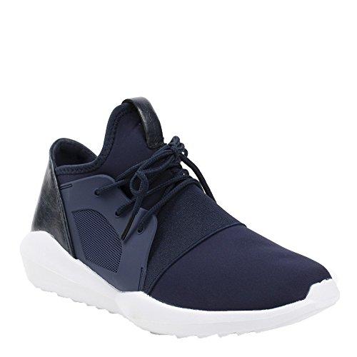 Ideal Shoes, Damen Sneaker Marine