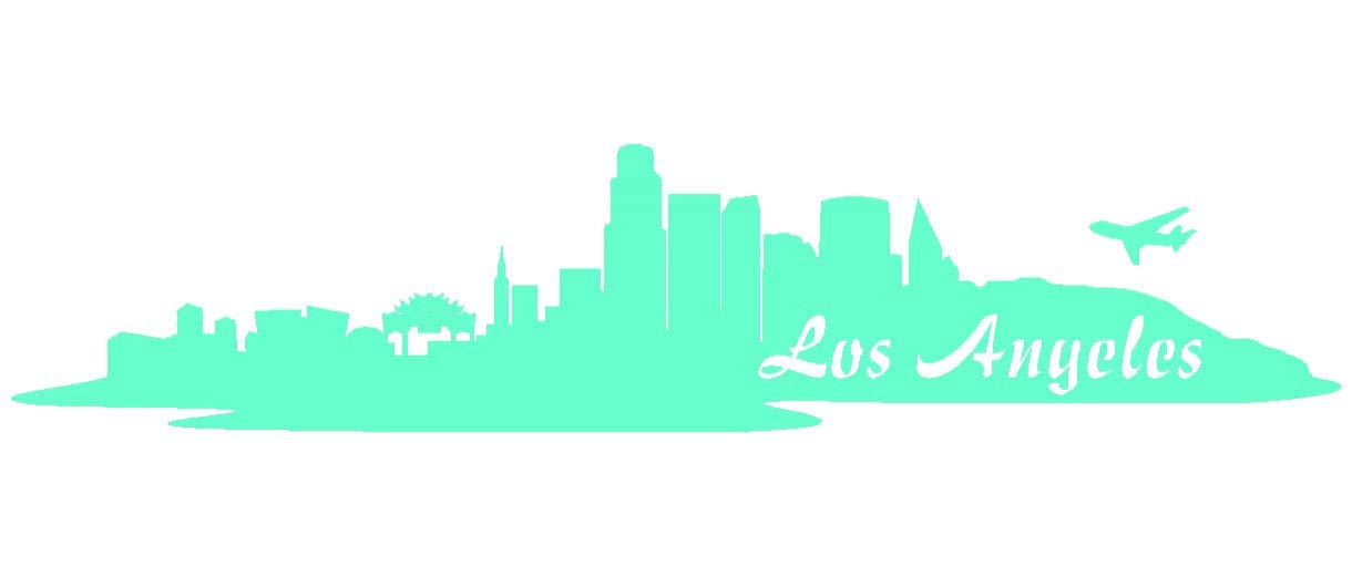 Samunshi® Aufkleber Los Angeles Skyline Autoaufkleber LA in 9 Größen und 25 Farben (180x39cm kupfermetalleffekt) B009EQ429G | Outlet Store
