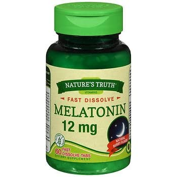Amazon.com: Natures Truth Melatonin 12 mg, Natural Berry Flavor, 60 ...