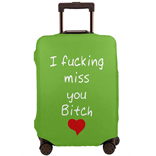 MKJIH I Fucking Miss You Bitch Travel Suitcase Protector Zipper Suitcase Protector Bag Baggage Suitcase Protector Cover Fit 18-32 -
