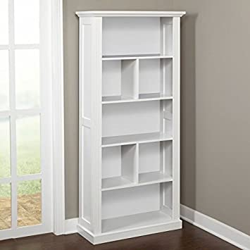 Tremendous Target Marketing Systems Preston Collection Contemporary Three Shelf Four Cubby Tall Standing Bookcase White Machost Co Dining Chair Design Ideas Machostcouk