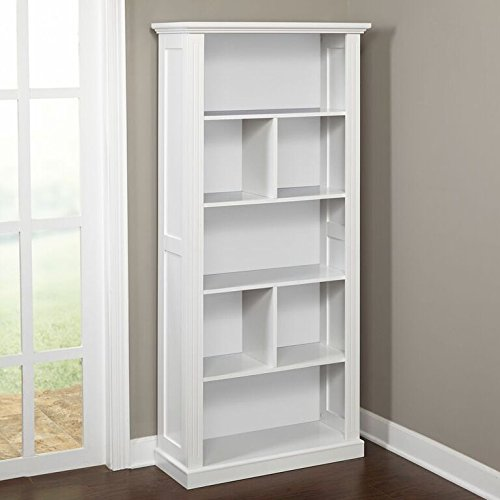 Target Marketing Systems Preston Collection Contemporary Three Shelf, Four Cubby Tall Standing Bookcase, (Collection Tall Bookcase)