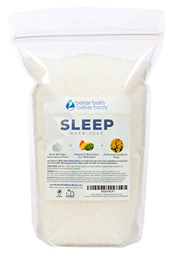 Sleep Bath Salt 3 Pounds (48 Ounces) - Epsom Salt Bath Soak With Tansy Essential Oils