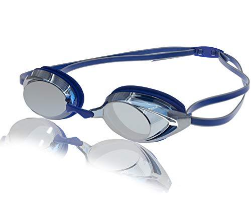 Uniq Fliker Mirrored Swim Goggle, Race Goggles in and Styles – Blue