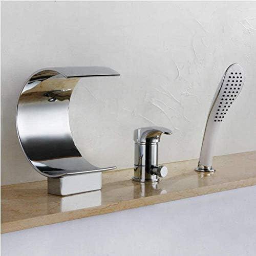 蛇口浴室スリーピースシャワーセット浴槽浴槽滝銅ハイエンドためフィッティング浴ミキサ3ホール浴蛇口